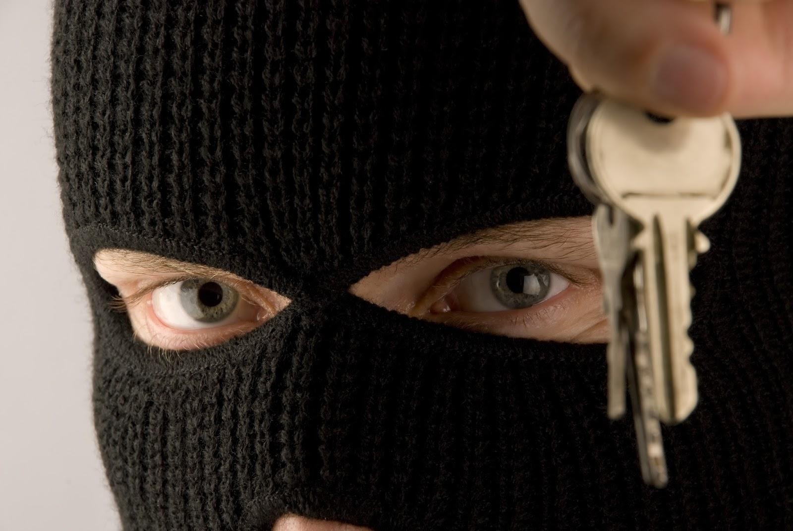 Burglar Holding Keys [152181411]