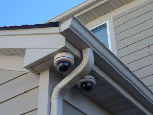 set of two outdoor security cameras